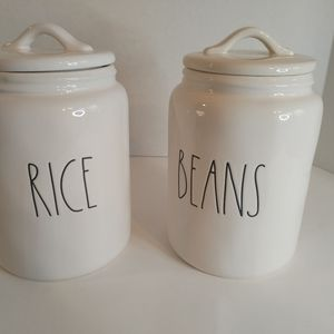 New Rae Dunn Rice and Bean Canisters